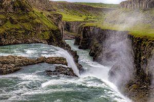 Waterfall Gulfoss van
