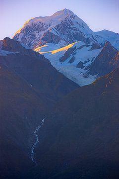 Sonnenaufgang Mount Tasman, Neuseeland von Henk Meijer Photography