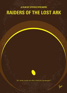 No068 My Raiders of the Lost Ark minimal movie poster