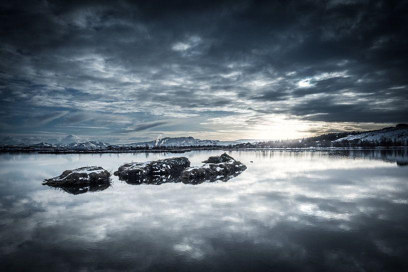 Thingvallvatn (IJsland) van Edwin van Wijk