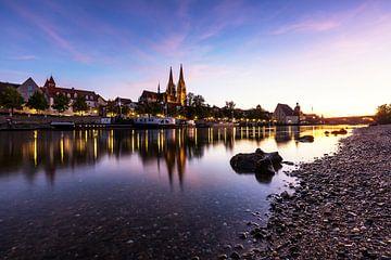 Regensburg Sonnenuntergang von Frank Herrmann