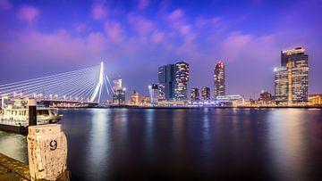 Stadsgezicht Pier en Erasmusbrug Rotterdam