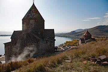Armeense kerken aan het Sevanmeer van