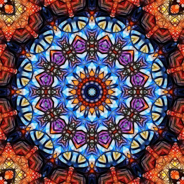 Mandala fraktal 3 von Marion Tenbergen