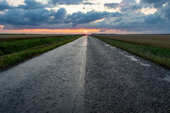 Onderweg naar de zonsondergang.