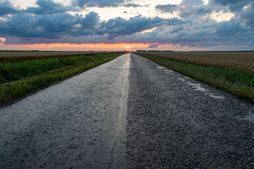 Auf dem Weg zum Sonnenuntergang. von Anjo ten Kate