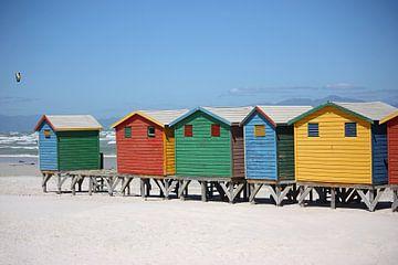 southafrica ... muizenberg beach huts IV van Meleah Fotografie