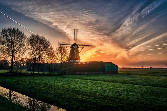 Een Hollandse zonsopgang! van Robin Pics (verliefd op Utrecht)