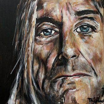 Porträt von Iggy Pop. von Therese Brals