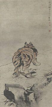 Tiger von hinten gesehen, Gao Qipei, um 1700
