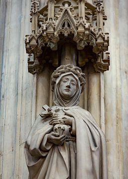 Heiligenbeeld met kruisbeeld