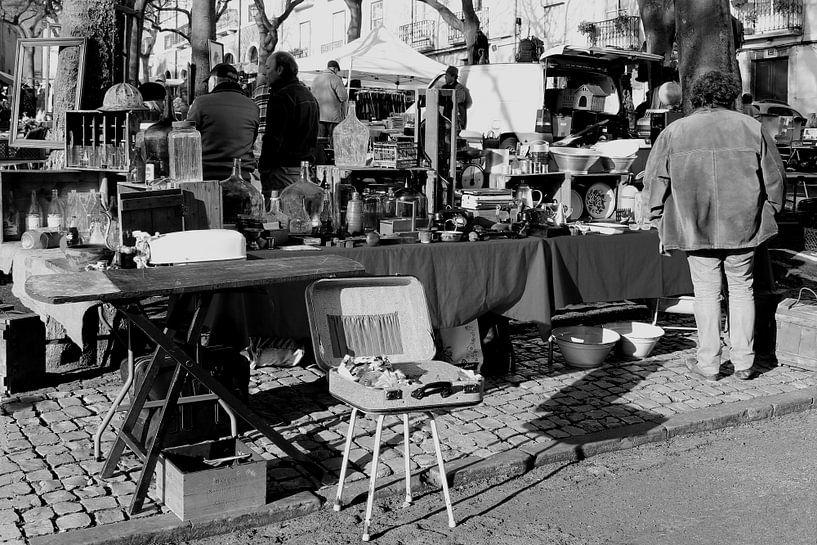 Rommelmarkt vijftiger jaren van Inge Hogenbijl