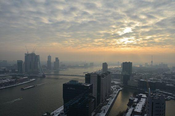 Winterse dag in Rotterdam van Marcel van Duinen
