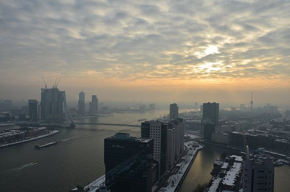 Winterse dag in Rotterdam