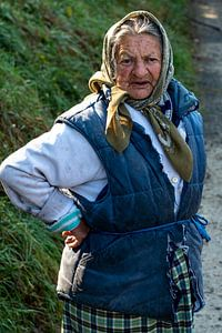 Pittige oude dame