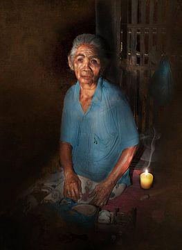 Balinese vrouw sur Dray van Beeck
