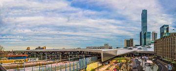 achterkant van Centraal Station Rotterdam van Fred Leeflang