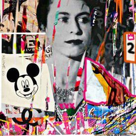 The Queen Plakative Collage - Dadaismus - Nonsens van Felix von Altersheim