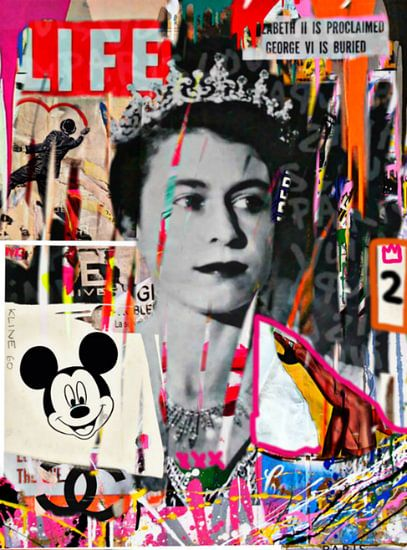 The Queen Plakative Collage - Dadaismus - Nonsens