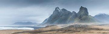 Eystrahorn panorama IJsland van Thijs Vermeer