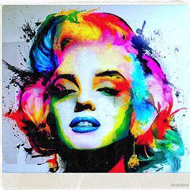 Marilyn Monroe - Film Cut - Colourful von Felix von Altersheim