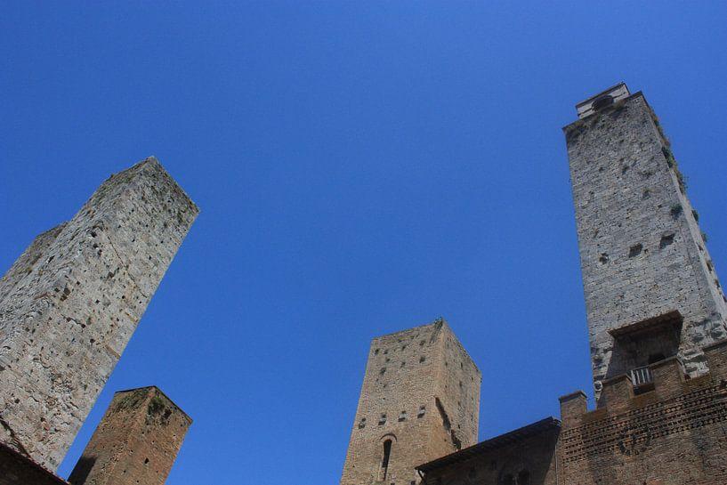 Torens van San Gimignano van Peter Maessen