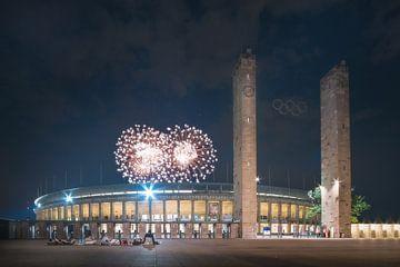 Vuurwerk in het Olympisch Stadion van wukasz.p