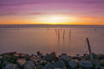 Sonnenuntergang am Andijk von Ardi Mulder