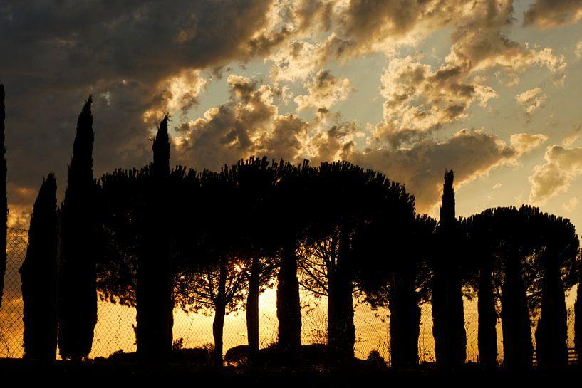 Zonsondergang in Italie van Paul Piebinga