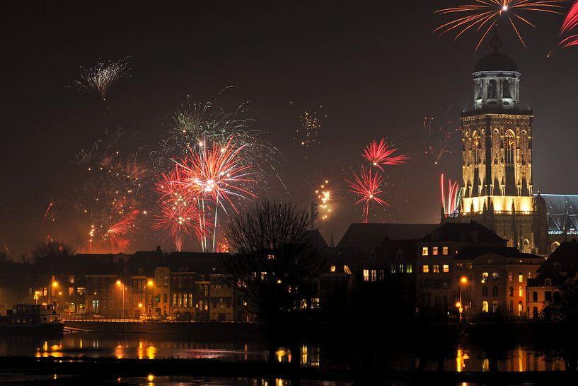 Deventer skyline oud & nieuw sur Arjan Penning
