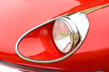 Jaguar E-Type Roadster koplamp detail van Sjoerd van der Wal