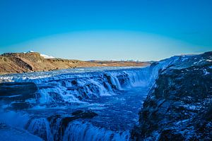 Gullfoss waterval Ijsland van