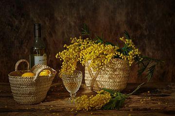Still life with my favourite mimosa. van Saskia Dingemans