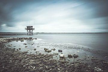 Hütte im Wasser von Truus Nijland
