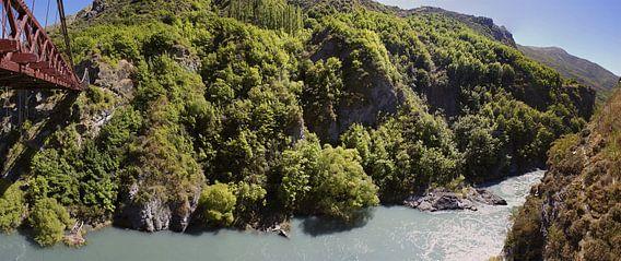 Kawarau gorge - home of bungy jumping van Jeroen van Deel