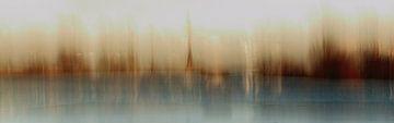 Dorp aan de rivier (impressionistisch) van