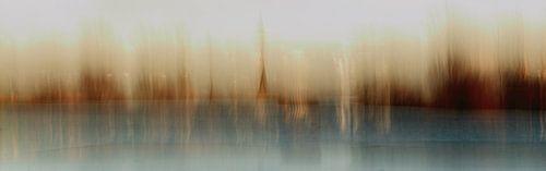 Dorf am Fluss (impressionistisch)