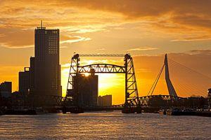 Zonsondergang bij de Hef te Rotterdam van