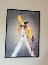 Klantfoto: Freddie Mercury olieverf portret van Bert Hooijer, op canvas