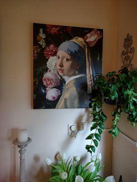 Kundenfoto: Mädchen mit der Vase, Collage nach Vermeer und de Heem