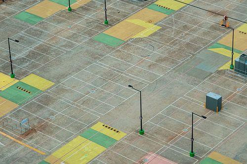 Het lege parkeerdek in Melbourne