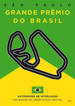 My F1 Interlagos Track Minimal Poster van Chungkong Art