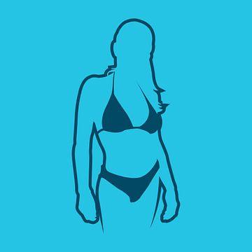 Bikini model van Jaap Tinholt