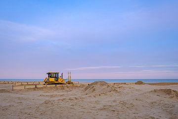 Graafmachine op het strand van Johan Vanbockryck