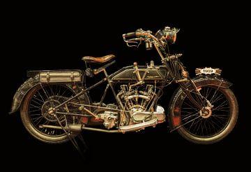 De vintage Martinsyde-Newman motorfiets van Martin Bergsma