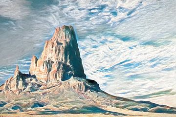 Berglandschap, schilderij, Schotland van Rietje Bulthuis