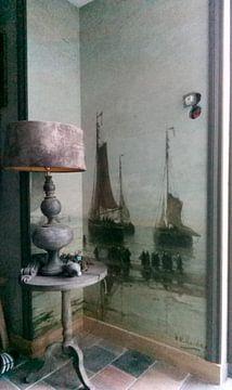 Kundenfoto: Scheveninger Boote vor Anker, H.W. Mesdag