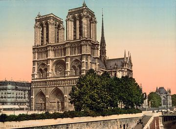 Notre Dame Paris (1890-1900) sur Vintage Afbeeldingen