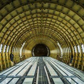 Gestript vliegtuig interieur van Cynthia Hasenbos