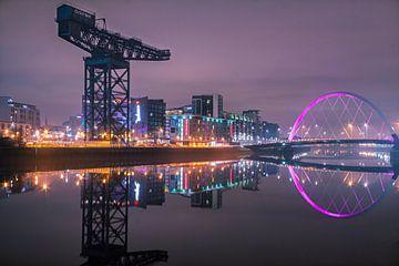 Glasgow city reflectie van Sander Groenendijk